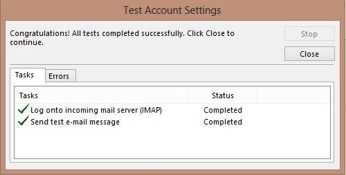 Setting POP/IMAP email ISPConfig diOutlook