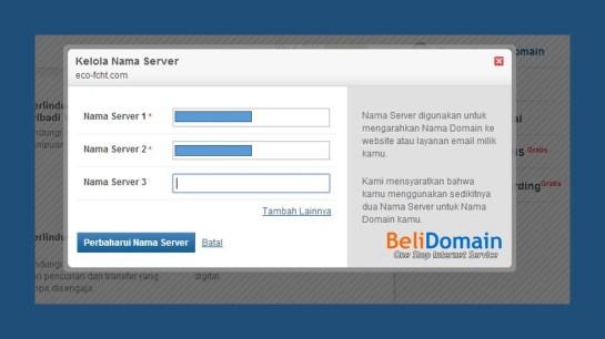 Mengganti nameserver di domainkontrol